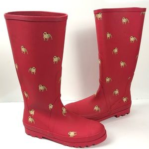 J Crew Bulldog Tall Rain Boots